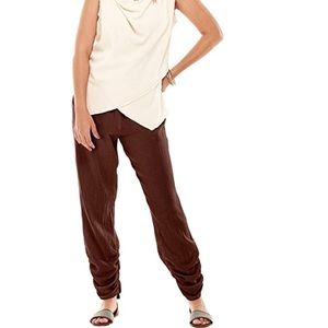 "Oh my Gauze ""Zoey"" pants in fig-size 1 (small/med)"